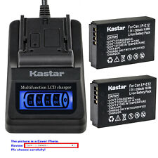 Kastar Battery LCD Quick Charger for Canon LP-E12 LC-E12 Canon PowerShot SX70 HS