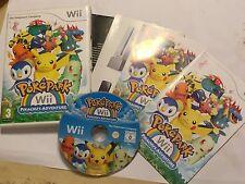 ORIGINALE PAL NINTENDO Wii Wii-GIOCO POKEPARK Pikachu U 'S ADVENTURE COMPLETO