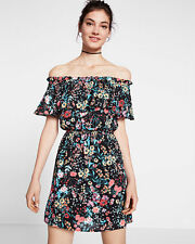 """NWT Express Off The Shoulder Ruffle Mini Dress Value $80 Sold out sz """"M"""""""