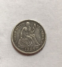 Us Silver Dime 1887 S