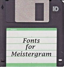 Meistergram Alphabet Fonts Software Disk Buyers Choice You pick 5 Your Choice