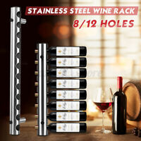 Stainless Steel Wine Rack Bar Wall Mounted Home Pub Holder Stand 8 / 12