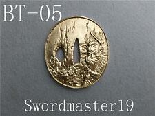 1 Top Grade Lion Warrior Waterfall Brass Tsuba - Japanese Katana Wakizashi Sword
