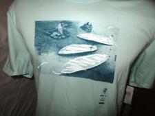 XL New Hurley Mint Green Amigos 100% Cotton Short Sleeve Crew neck T-Shirt mens