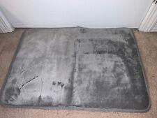 "Genteele Bath Mat Gray Memory Foam 24"" x 17"" Textured Bottom"