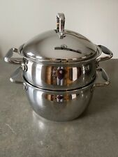 Belgique Tools Of Trade 4 Qt Induction Base Pot W/ Strainer Steamer Lid Silicone