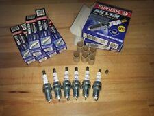6x Bmw X5 3.0i E53 y2000-2006 = Brisk YS Silver Upgrade 14x19mm Spark Plugs