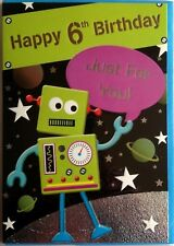Boy's 8th Birthday Card Rocket