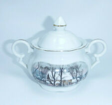 Vintage Collectible 1977 Avon Currier And Ives Sugar bowl Japan
