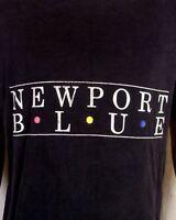 vtg 80s 90s soft thin Newport Blue T-Shirt 1990 Montserrat Island Cruise sz L