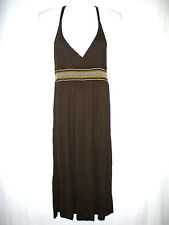 Damenmode Kleider H&M Damen Kleid Weiche sehr schöne Qualität Dunkelbraun Gr.44