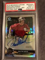 2018 Bowman Chrome Daulton Varsho Arizona Prospect Auto Ref PSA/DNA 9/10💎POP 1