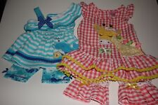 Lot of 2 Nannette Spring/Summer Outfits Size 12 Months Baby Girl