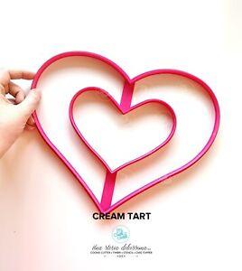 Cream Tart Stampo Maxi Cuore Auguri heart Cookie Cutter Formine Biscotti 28x23cm