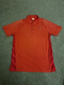 Puma Sport Lifestyle Polo Cool Cell Men's Size Medium Red Vented