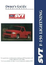 1999 Ford Truck F-150 SVT Lightning Owners Manual User Guide Supplement