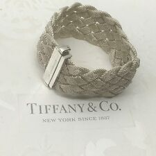 Excellent Authentic Tiffany & Co. Somerset Braided Mesh Bracelet Bangle RP1250