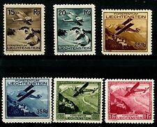 Liechtenstein 1930 Air Mail Issues Complete Set of 6 MH Scott's C1 to C3