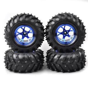 4Pcs 125mm 1/10 Bigfoot Tire&Wheels 12mm Hex for Monster Truck HSP Off Road car