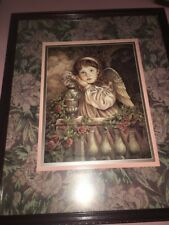 Baby Angel Photo Frame Wood Rare