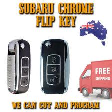 Subaru Chrome Transponder Remote Flip Key - IMPREZA LIBERTY + 434mhz - FREE POST