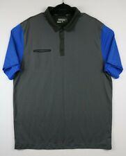 Nike Golf Mens Size XL Tour Performance Dri-Fit Blue Gray Polo