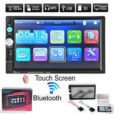 """7"""" Touch Bluetooth 2 DIN In Dash Car Stereo MP5 Player Radio FM Video Camera USB"""
