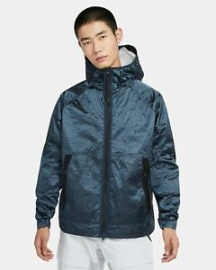 Nike Tech Pack Water Repellent Zip Pockets Woven Hooded Jacket Men's Size S L