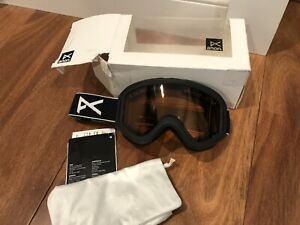 NEW Anon Burton Tracker Ski Snow Goggles Black Junior Amber Lens