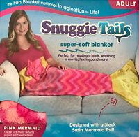 Snuggie Tails Super-soft Fleece Blanket As Seen On TV PINK MERMAID ADULT