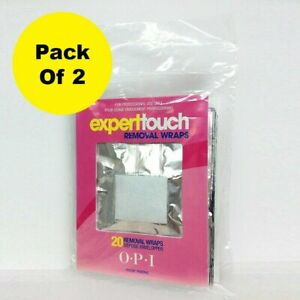 Opi Expert Touch Remover Wraps 20 Pieces (Pack Of 2)