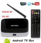 SMART TV BOX Android 4.4 CS918 2GB RAM 8GB ROM Quad Core Bluetooth HDMI Mini PC