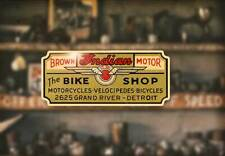 1950s Cycle Dealer Water Slide Decal BSA Harley Triumph Motorcycle Pinup Cushman