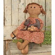 Primitive Ann & Barney Doll Country Fabric Cloth Americana Folk Art Farmhouse