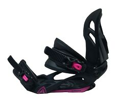 Firefly Womens Snowboard Bindings Medium Black/Pink - NEW