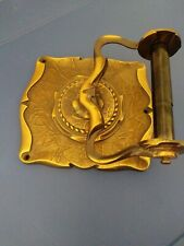 Vtg. Amerock Carriage House Wall Mount Toilet Paper Holder Antique Brass