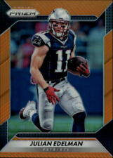 2016 Panini Prizm Prizms Orange Patriots Football Card #42 Julian Edelman /299