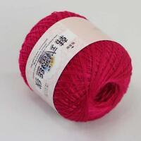1ballx50g New Soft Hand Cotton Lace Crochet shawl Wrap Knitting Yarn Berry Pink