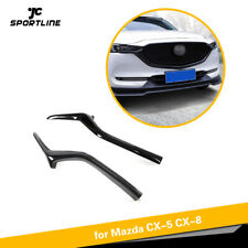 Fit for Mazda CX-5 CX-8 2017-2019 2PCS Front Bumper Grill Grille Trim Cover ABS