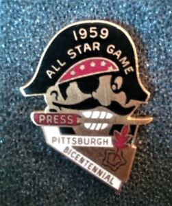 1959 PITTSBURGH PIRATES BASEBALL ALL STAR GAME PRESS PIN MINT IN NEW CASE