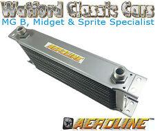 Aeroline Nero 15 radiatore dell'olio di riga per MG MIDGET, MGB, Mini, Triumph, FORD Austin