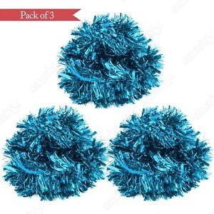 Xmas Luxury Ice Blue Tinsel Pack of 3 Tree Decoration Chunky Garland