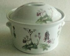 Louis Lourioux, France 1 ¼ Qt LaFaune Round Covered Casserole Dish, Wild Flowers