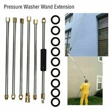 "4000PSI 7.5FT Pressure Washer Extension Wand Lance 1/4"" Connect Stainless Steel"