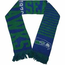 """Seattle Seahawks Knit Winter Neck Scarf NEW 65"""" Great RETRO Throwback Design"""