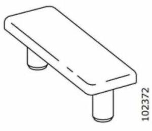 6 New IKEA white plastic floor sliders Part # 102372