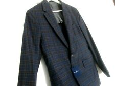 """NWT Men's HACKETT LONDON 100% Wool Checked Lightweight Blazer. 38"""" Chest"""