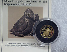 2013 CANADA Gold Coin Inuit Art 50 Cents 1/25 OZ Owl Shaman Holding Goose Proof
