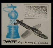 Rocket Powered Model Plane 1949 How-To build PLANS TORCHY