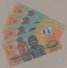 1988 Australian Commemorative $10 4 Consecutive Notes UNC AB43985424-AB43985427